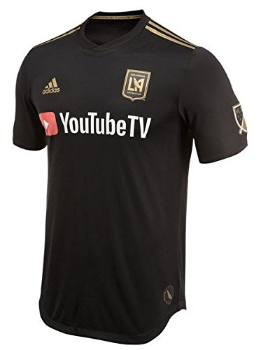 adidas LAFC 2018 Home SS Authentic Jersey- Black/Gold S