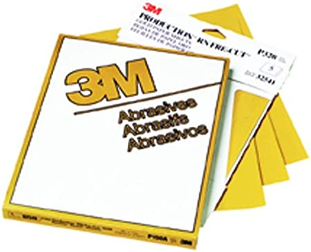 3M 02540 Production Gold 9 x 11 P360A Grit Resinite Sheet Pack of 5