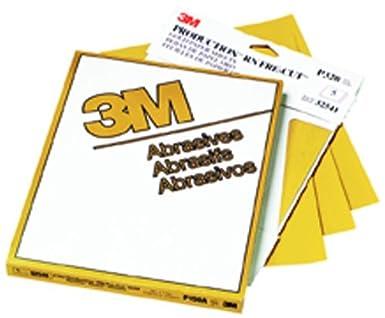 3M 02539 Production Gold 9' x 11' P400A Grit Resinite Sheet