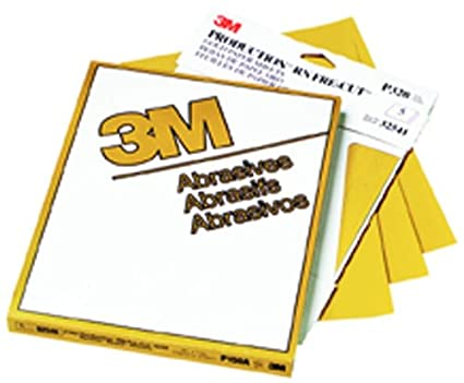 Pack of 5 02538-5PK 3M 02538 Production Gold 9 x 11 P500A Grit Resinite Sheet
