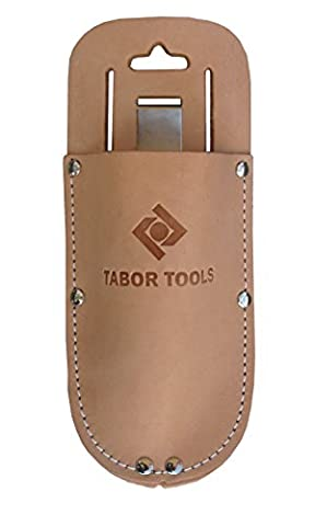 TABOR TOOLS Leather Holster for Pruning Shears, Sturdy Craftsmanship Tool Belt Accessory Sheath, Fits Most (Felco F6 Pruner)