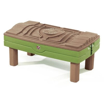 Step2 787800 Naturally Playful Sand & Water Center - Umbrella & Toys Included | Educational Toys