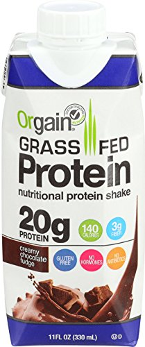 Orgain Grass Fed Whey Protein Shake, Creamy Chocolate Fudge, 11 Ounce, 12 Count