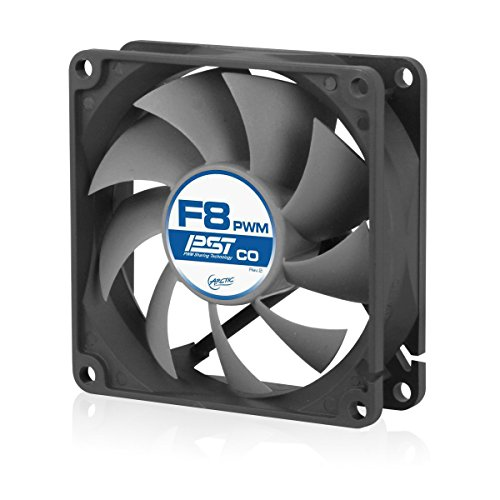 ARCTIC F8 PWM PST CO - 80mm Dual Ball Bearing Low Noise PWM Standard Case Fan with PST Feature - Ideal for Systems Running 24/7