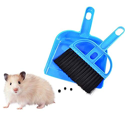 ZZX pet Mini Dustpan and Broom Set for Guinea Pigs, The cat, A Hedgehog, Hamsters, My Neighbor Totoro, The Rabbit, Reptiles and Other Small Animals Hamster Cleaning Hedgehog Supplies