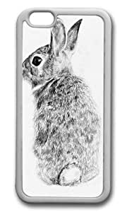 Apple Iphone 6 Case,WENJORS Awesome Rabbit Soft Case Protective Shell Cell Phone Cover For Apple Iphone 6 (4.7 Inch) - TPU White