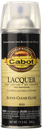 Cabot 8050 Lacquer Spray, 11.5 Oz Aerosol Can, 10-15 Sq-Ft ()