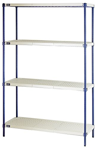Quantum Storage 4-Shelf Wire Plastic Mat Shelving Unit, 600 lb Load Capacity per Shelf, 72