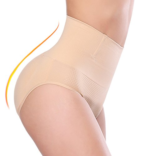 NINGMI Womens Butt Lifter Padded Panties Enhancer Shapewear Tummy Control Underwear