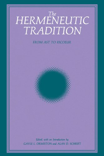 Series Ast (The Hermeneutic Tradition: From Ast to Ricoeur (SUNY series, Intersections: Philosophy and Critical Theory))
