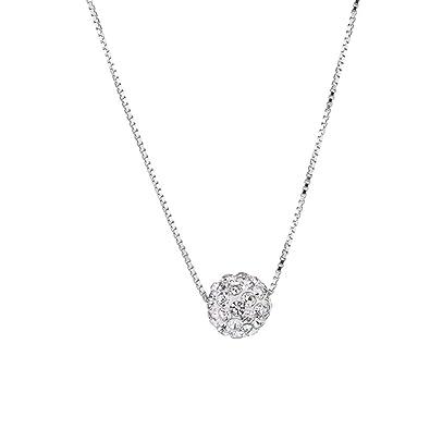 collier argent avec diamant