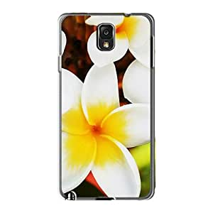 Perfect Cell-phone Hard Cover For Samsung Galaxy Note 3 With Customized Trendy Pretty Plumeria Pattern Top10cases