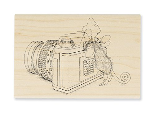 Stampendous Wood Stamp, House Mouse Say Cheese
