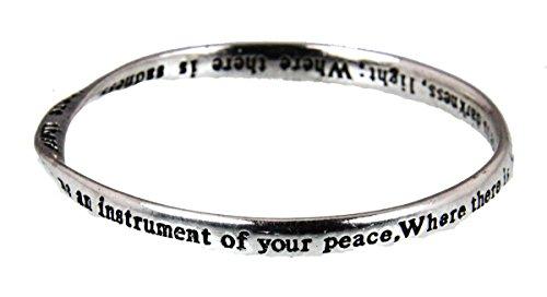 4030307 St Francis Prayer Bangle Bracelet Assisi Instrument of Peace Catholic