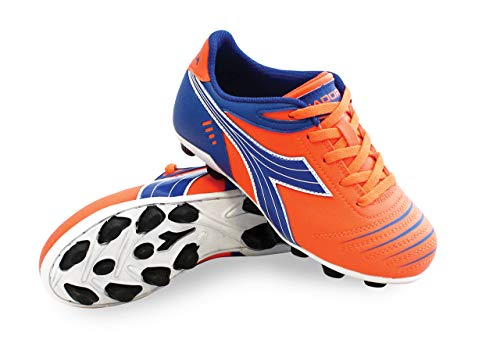 Diadora Kids Unisex Cattura MD JR Soccer (Toddler/Little Kid/Big Kid) Orange/Blue 10.5 Little Kid M