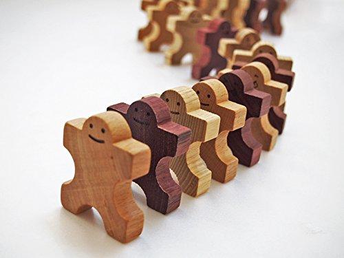 スプソリ 木のおもちゃ 木のおもちゃ 知育つみき 組んであそぼう ともだちドミノ30P