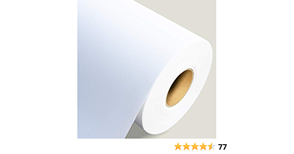 Cora 24 inch 410 GSM White Textured Photo Canvas 18m Roll for Canon Wide Format