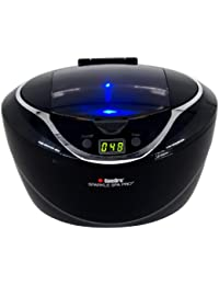 1790 Sparkle Spa Pro 750ml Professional Ultrasonic Machine with 5 Cleaning Cycles and Black Digital Timer