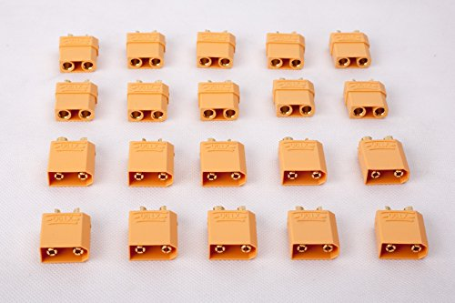 SummitLink 10 Pairs XT90 Male Female Connector for High-Amp Lipo Batteries