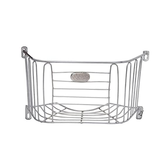 Ride Smart Hero Duet Front Basket Stainless Steel Frame with Nut-Bolts & Screws - Corrosion Resistant, Strong and Durable, Easy Do-It-Yourself