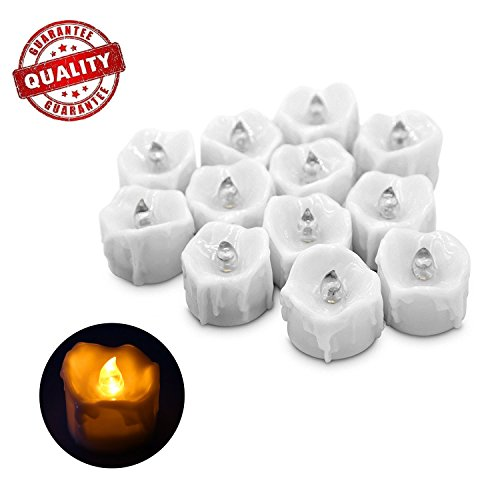 Electric Flameless Candles, LED Tea Light Candles With Battery-Powered Wedding Candles Decorations...