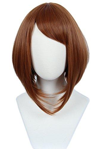 Linfairy Women's Brown Cosplay Wig Halloween Costume Party Wig]()