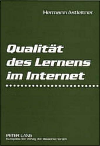 Book Qualitaet Des Lernens Im Internet: Virtuelle Schulen Und Universitaeten Auf Dem Pruefstand