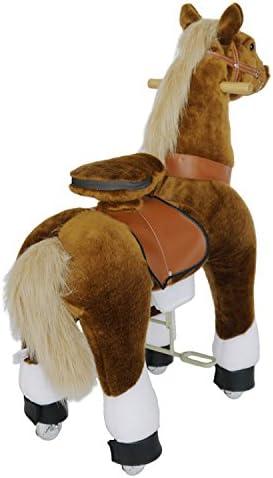 Ponycycle - cheval à roulettes Beige / Blanc Moyen