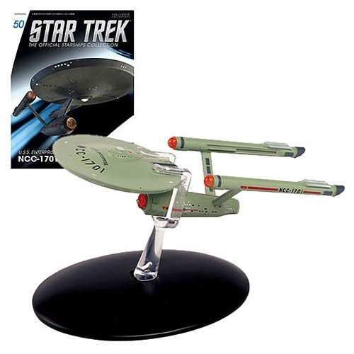 Star Trek Starships The Original Series U.S.S. Enterprise NCC-1701 Die-Cast Vehicle with Collector Magazine by Star Trek - Enterprise Ncc 1701 Vehicle