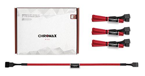 Cable Noctua NA-SEC1 chromax.red, 3-Pin/4-Pin Extension Cabl