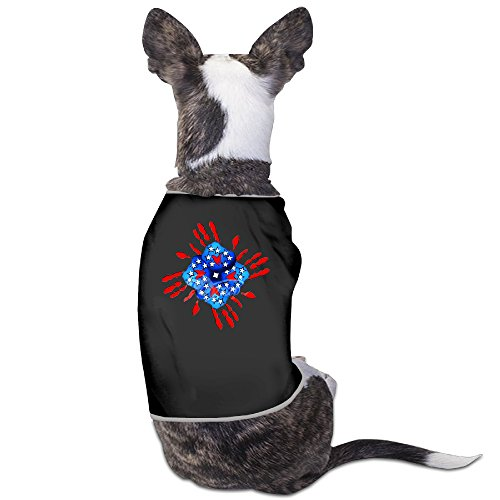 [Dog Costumes Teamwork Hands USA Flag Logo Short Sleeve Funny Dog Gift] (Work Team Costumes)