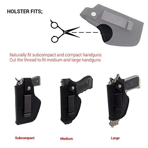 Modaka Etui pour Pistolet, Holster de Ceinture IWB/Taille intérieure Le Holster Tactique en Plein air - Etui de Police… 2
