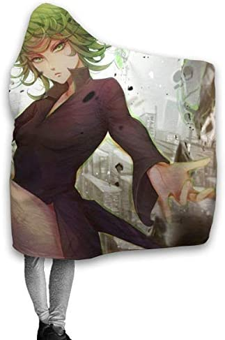 DaLaBengBa-shop One Punch Man Throw Blanket Couvertures à Capuche Sherpa Polaire Wearable Cuddle Warm Soft Cozy Hooded Blankets for Adul 60 x50