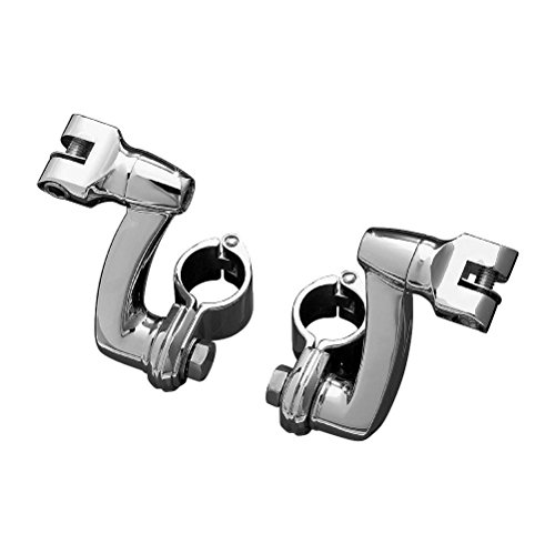 Kuryakyn Longhorn Offset Peg Mounts With 1 Inch Magnum Quick Clamps Universal