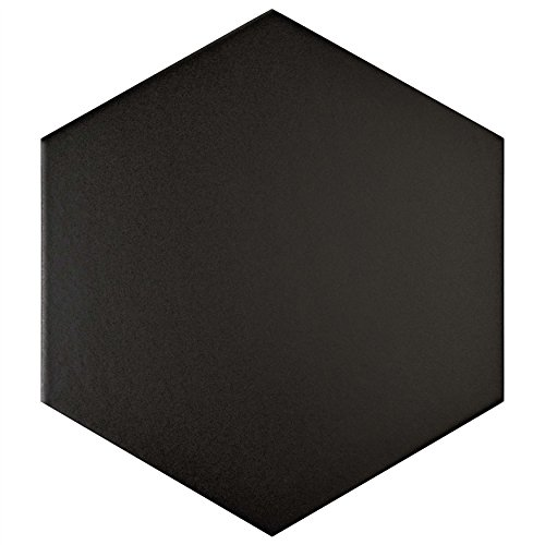 SomerTile FCD10BTX Abrique Hex Porcelain Floor and Wall Tile, 8.625