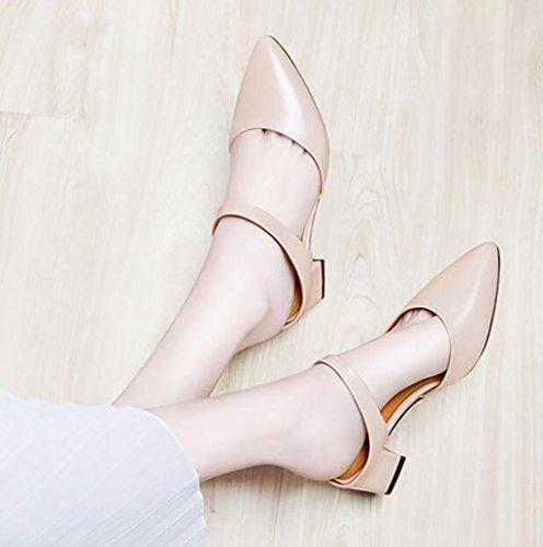 B Piatti Sandali Indossano B Pigre Baotou Scarpe Eleganti Alto colore Moda Mezze Donna Alla Fafz Pantofole 37 Dimensioni Estivi Femminili Con Tacco E wBqHZ