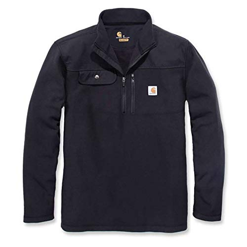 Carhartt Men's 102836 Fallon Half-Zip Sweater Fleece - Large Regular - Black