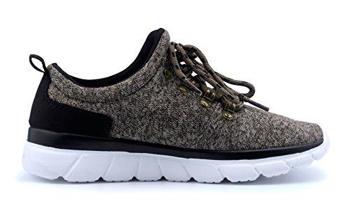 T & Mates Zapatillas De Deporte De Moda Para Mujer Ligero Ligero Transpirable Correr Deportivo Zapatos De Color Caqui
