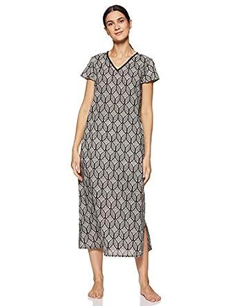 Amazon Brand - Myx Women's Cotton Night Dress