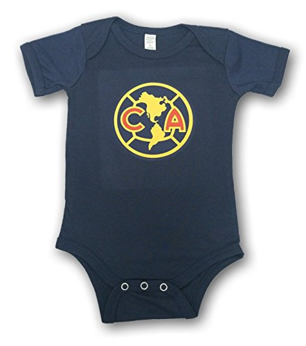 ESF Club America Baby Bodysuit Mameluco Jumpsuit Exclusive Design (6-12 Months, Navy)