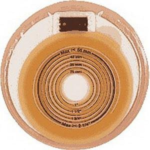 One-Piece Stoma Cap, Filter, Opaque, Cut-to-Fit Flat Skin Barrier, 3/4