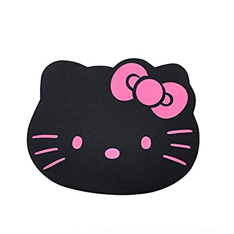 - 41 btBHX PL - Famixyal Fashion Cartoon Hello Kitty Optical Mouse pad Personalized Computer Decoration Mouse Pad Mat Non-toxic Tasteless Mice Mat Mousepad (Black)
