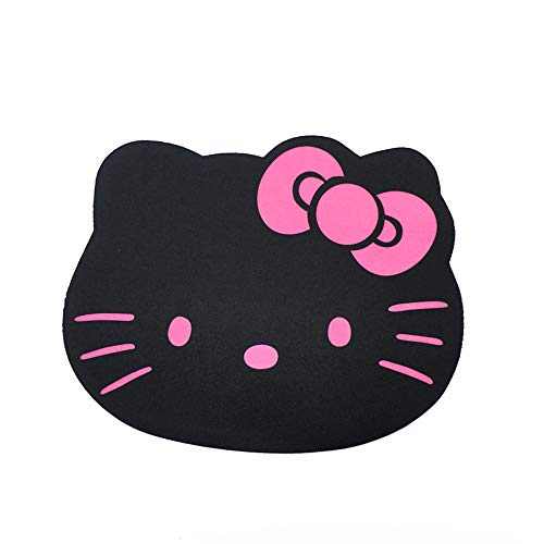 Famixyal Fashion Cartoon Hello Kitty Optical Mouse pad Personalized Computer Decoration Mouse Pad Mat Non-toxic Tasteless Mice Mat Mousepad (Black)]()