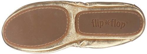 talla color de cuero Dorado dorado Flop para Flip mujer Ballet Bailarinas apparel 20285 Pure 37 xqxT4v71