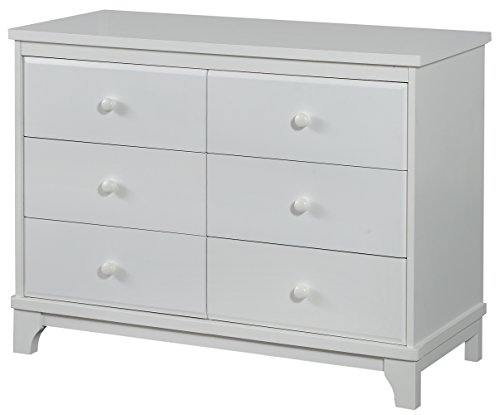 Angel Line Heather 6 Drawer Double Dresser, White