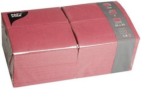 Papstar Servietten Tissueservietten Bordeaux 250 Stück 33 X 33 Cm 3 Lagig 1 8 Falz In Der 250er Gastronomie Packung Ideal Für Den Gastrobereich Und Große Feste 84577 Küche Haushalt