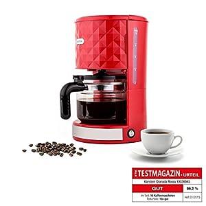 Klarstein Granada Rossa Design Filterkaffeemaschine Kaffeemaschine mit...
