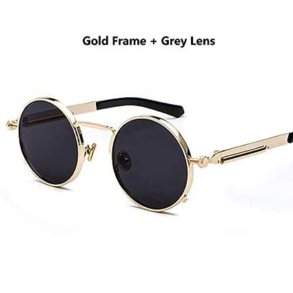 931b3227080f1 Kasuki 2018 Classic Round Sunglasses 12 Colors Metal Springs ...