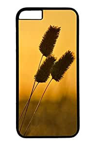 Personalized Protective Cases for New iPhone 6 PC Black Edge - Sunset Dandelion