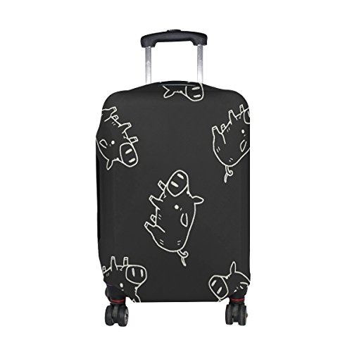 Pig Print (LAVOVO Pig Print Travel Luggage Cover Spandex Suitcase Cove Protector Baggage Fits 29